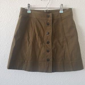 Madewell A-line Snap Mini Skirt